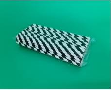 Соломка трубочка бумажная витая 100шт Чёрные (1 пачка)