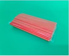 Соломка трубочка бумажная 100шт оранжевая (1 пачка)