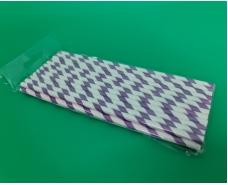 Соломка трубочка бумажная 25шт витая фиолетовая (1 пачка)