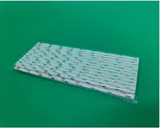 Соломка трубочка бумажная 25шт серебреные конфетти (1 пачка)