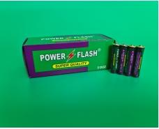 Элемент питания Батарейка POWER FLASH (ААА R3) солевые (Б-4) (4 шт)
