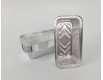 Контейнер из пищевой алюминиевой фольги прямоугольный 685мл R208L 100шт в упаковки (1 пачка)