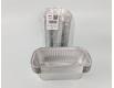 Контейнер из пищевой алюминиевой фольги прямоугольный 1500мл R51L 100шт в упаковки (1 пачка)