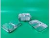 Контейнер из пищевой алюминиевой фольги прямоугольный двухсекционный   520/320мл SPM2L 100шт в упаковки (1 пачка)