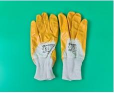 """Хозяйственные перчатки рабочие нитрил жёлтый №10 """"Intertool"""" (12 пар)"""