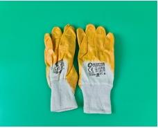 """Хозяйственные перчатки рабочие нитрил жёлтый №9 """"Intertool"""" (12 пар)"""