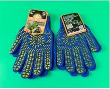 Хозяйственные перчатки плотные синяя (7кл/5н) (10 пар)