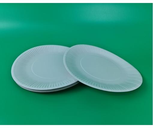 Бумажная тарелка с рисунком 50шт 30см Белая (1 пачка)