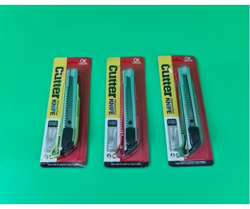 Нож канцелярский №HX332 (18мм) (1 шт)