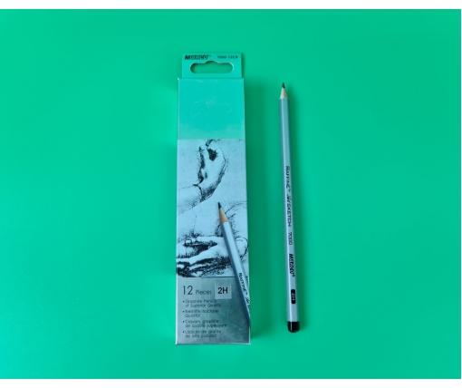 Карандаш простой набор 12шт тм. Марко №7000-2H raffine (1 пачка)