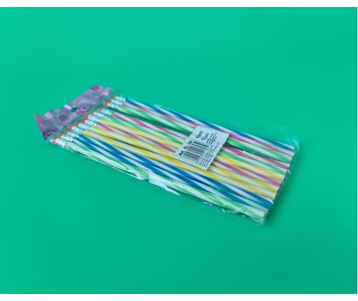 Карандаш гибкий пластиковый 20см  №OL-20 12шт (1 пачка)