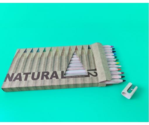 """Набор цветных карандашей 12 цветов """"MARCO"""" №6400-12CB natural """"JAMBO""""+точилка (1 пачка)"""