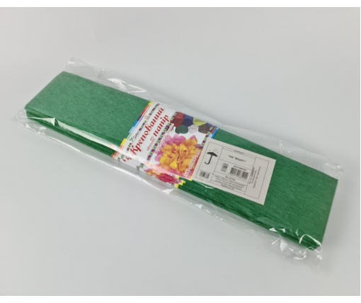Бумага креповая (гофрированая) зеленая (1 пачка)