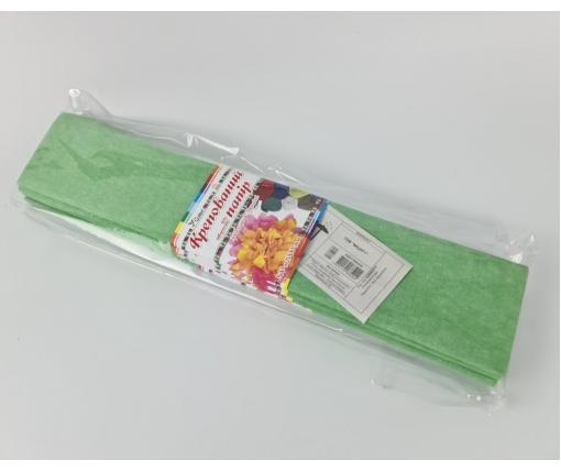 Бумага креповая (гофрированая) салатовая (1 пачка)