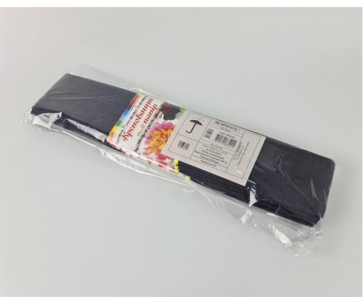 Бумага креповая (гофрированая) черный (1 пачка)